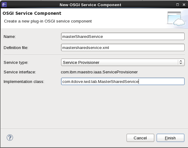 SCAWS SS PoolManager Client OSGI Create
