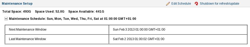 SCACLMS Backup status