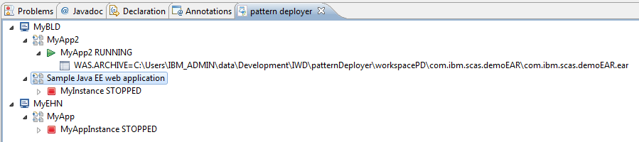 SCAWS pattern deployer