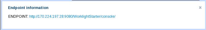 WLSCAWS WorklightStarter Console URL