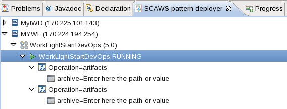 WLSCAWS pattern deployer Import operations
