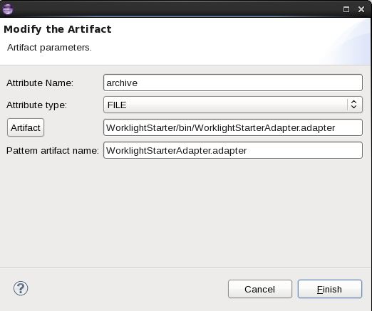 WLSCAWS pattern deployer Set artifact adapter