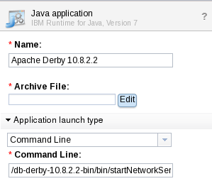 SCAWS Java Pattern-Type Derby Component Property
