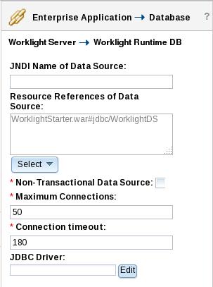 WLSCAS Link Worklight Server Database