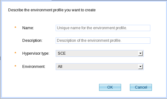 WLSCAWS Create Environment Profile