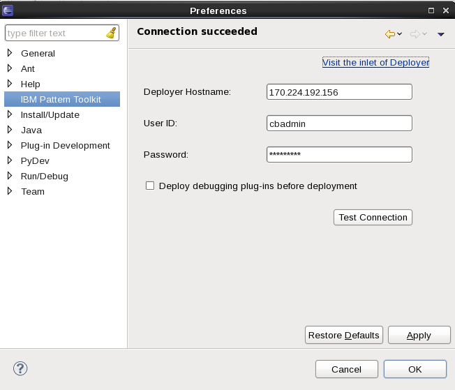 SCAWS PDK 1.0.1.0 Connection