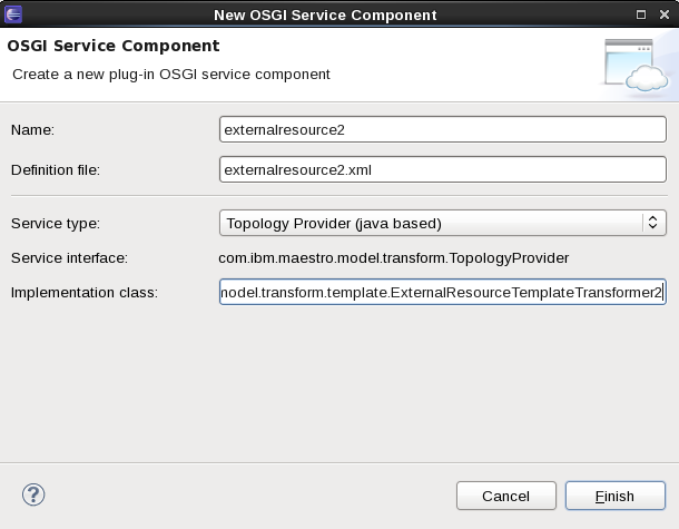 SCAWS plugin.onecomp.novm OSGI Wizard