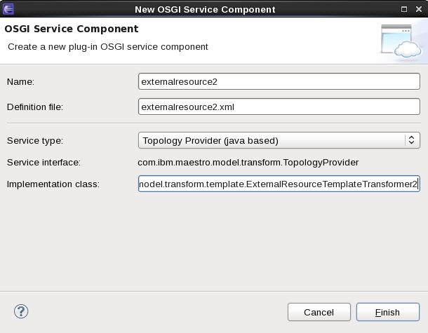 SCAWS plugin.onecomp.novm OSGI Wizard